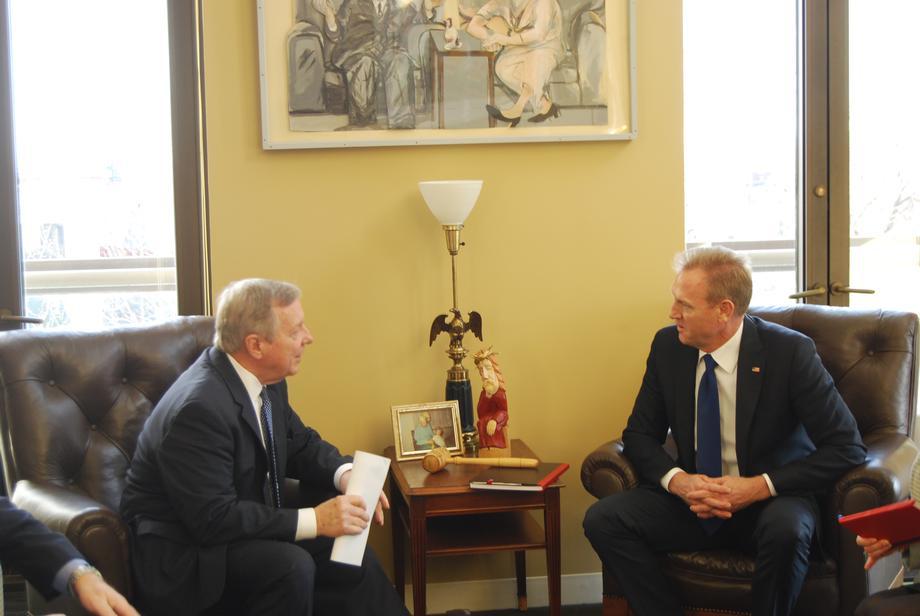 Durbin Meets with Acting Secretary of Defense Patrick Shanahan