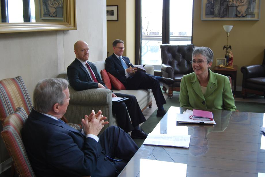 Durbin Meets With Secretary of the Air Force Heather Wilson