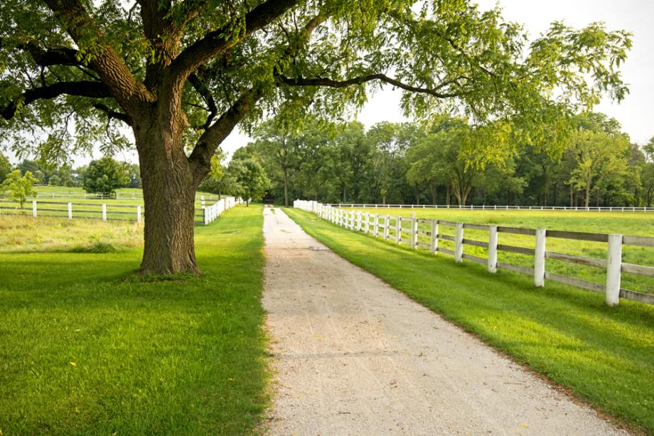 The Equestrian Center of Danada Forest Preserve in DuPage County, Illinois