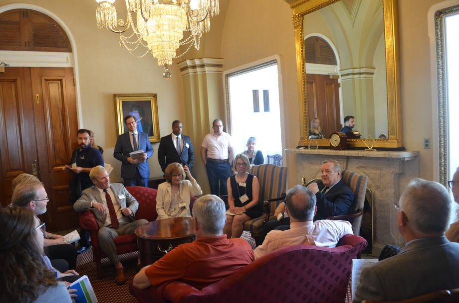 Durbin Meets With Champaign County Leaders