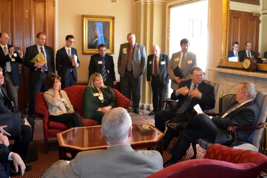 U.S. Senator Dick Durbin (D-IL) met with members of Illinois Corn Growers to discuss the Farm Bill, the Mississippi River, and other agricultural priorities.