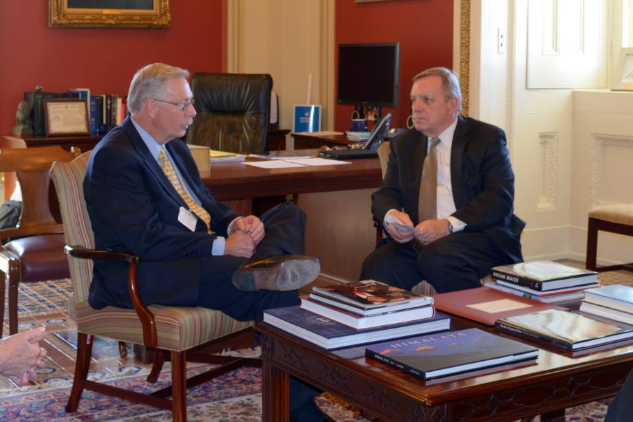 U.S. Senator Dick Durbin (D-IL) met with Lurie Children's Hospital of Chicago CEO Pat Magoon to discuss childhood healthcare issues.