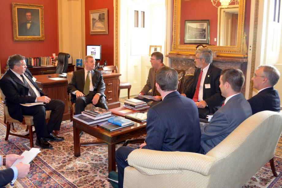 U.S. Senator Dick Durbin (D-IL) met with members of the Illinois Soybean Association to discuss the Farm Bill and other agricultural priorities.