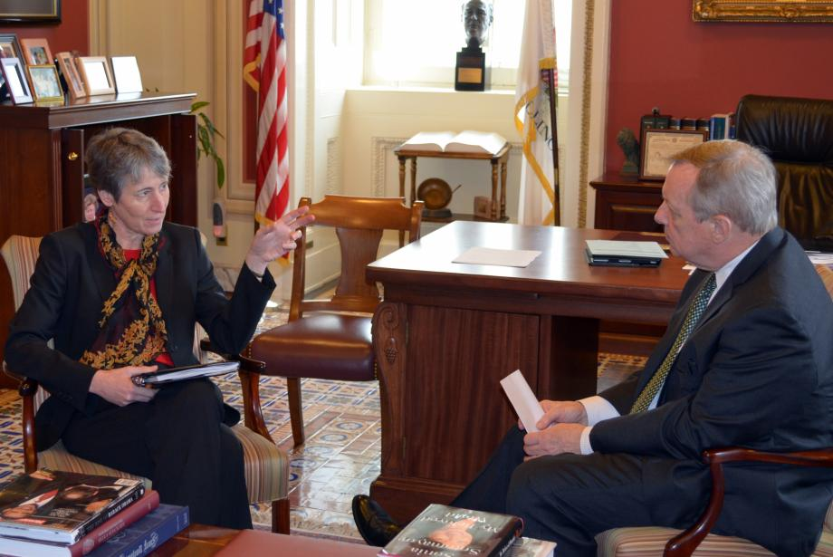 U.S. Senator Dick Durbin (D-IL) met with Sarah Jewell to discuss her nomination to be Secretary of the Interior.