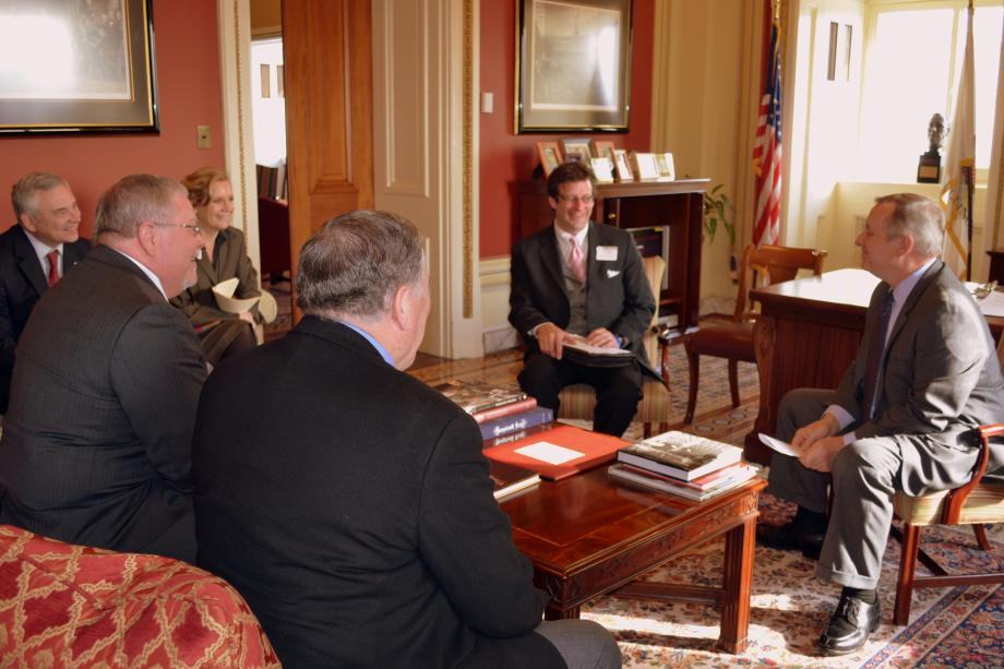 U.S. Senator Dick Durbin (D-IL) met with superintendents of Illinois Public Schools to discuss Federal Impact Aid.