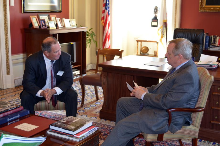 U.S. Senator Dick Durbin (D-IL) met with Chicago Metropolitan Agency for Planning Executive Director Randall Blankenhorn to discuss transportation and infrastructure issues.