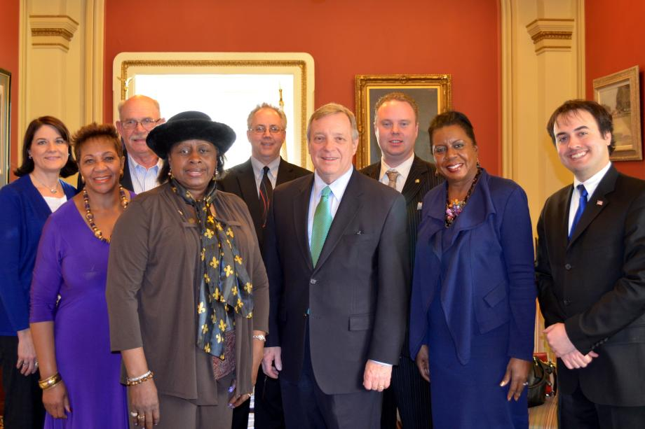 U.S. Senator Dick Durbin (D-IL) today welcomed several Illinois County Board Members to his Washington, DC office.