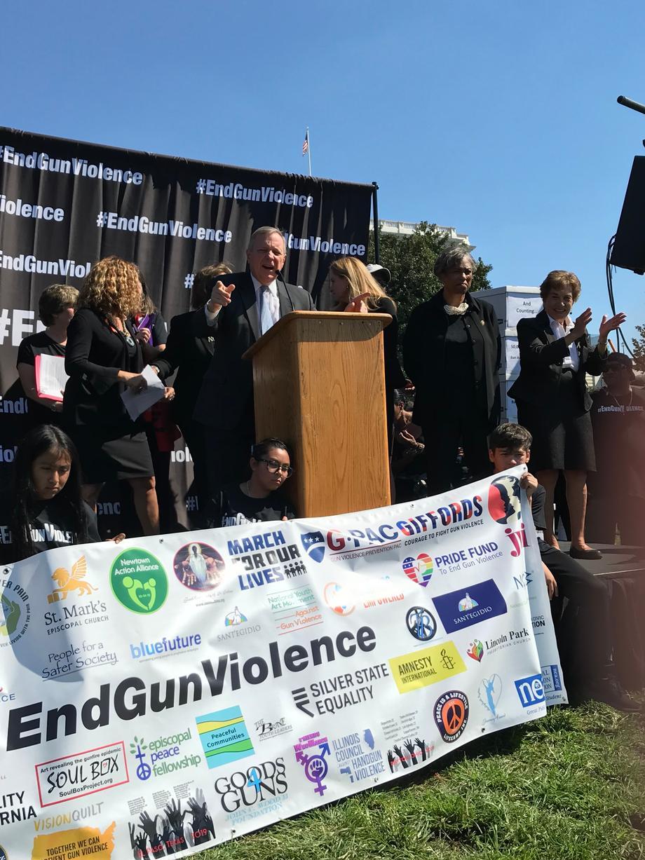 Durbin Calls For Senate Action On Gun Violence At National Rally