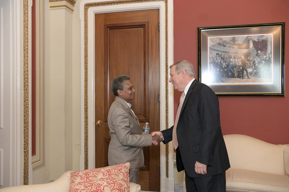 Durbin Meets With Chicago Mayor-elect Lightfoot