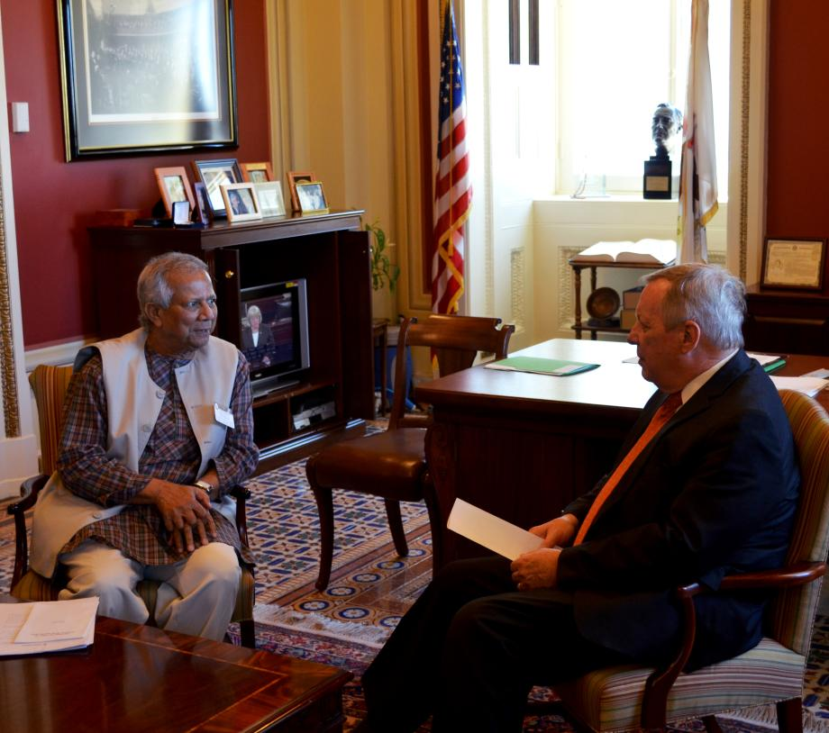 July 21, 2015 -  I had the pleasure of meeting with Nobel Peace Prize laureate Professor Muhammad Yunus to discuss microfinance.