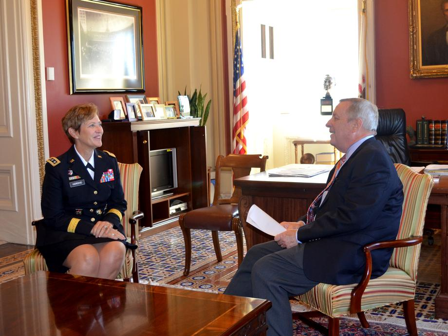 September 17, 2015 - I met with U.S. Army Surgeon General Horoho to congratulate her on 32 years of outstanding service.
