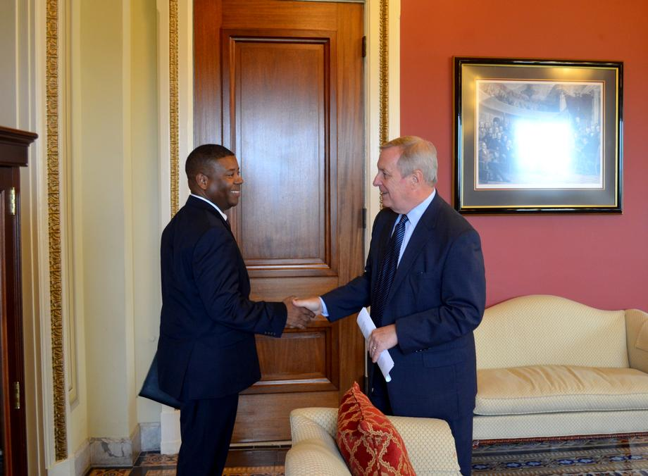 September 22, 2015 - Senator Chris Coons (D-DE) and I met with the director of the Bureau of Prisons to discuss solitary confinement.
