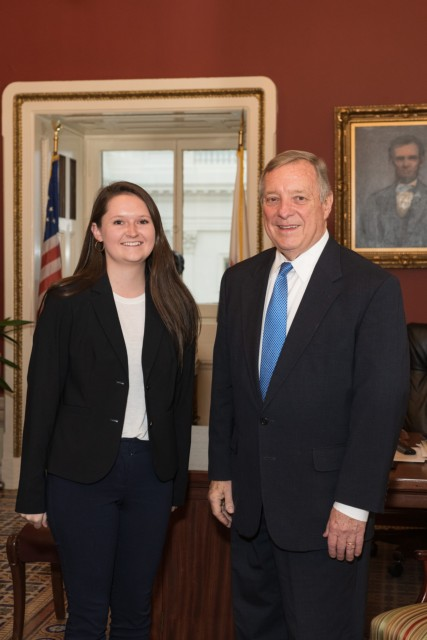 Durbin Meets With Ed Greelegs Scholar Alexis Ryckaert