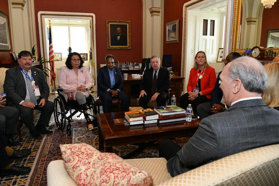 Durbin, Duckworth Meet With Illinois Mayors