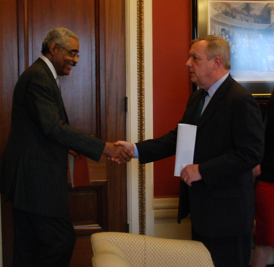 Durbin met with the CEO of AARP, A. Barry Rand, to discuss seniors' issues and deficit reduction.