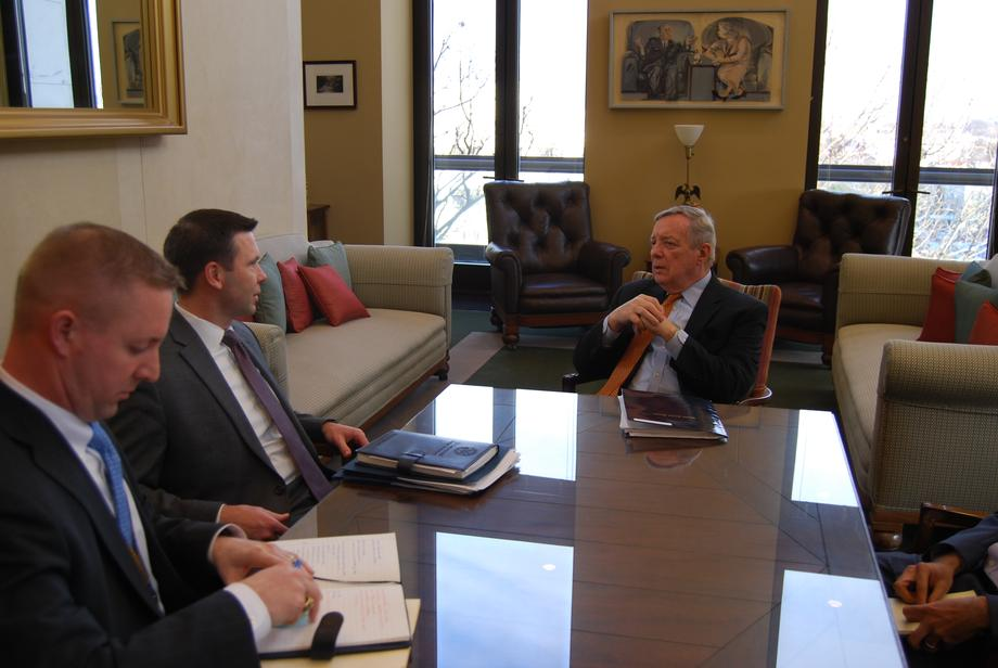 Durbin Meets With CBP Commissioner Kevin McAleenan