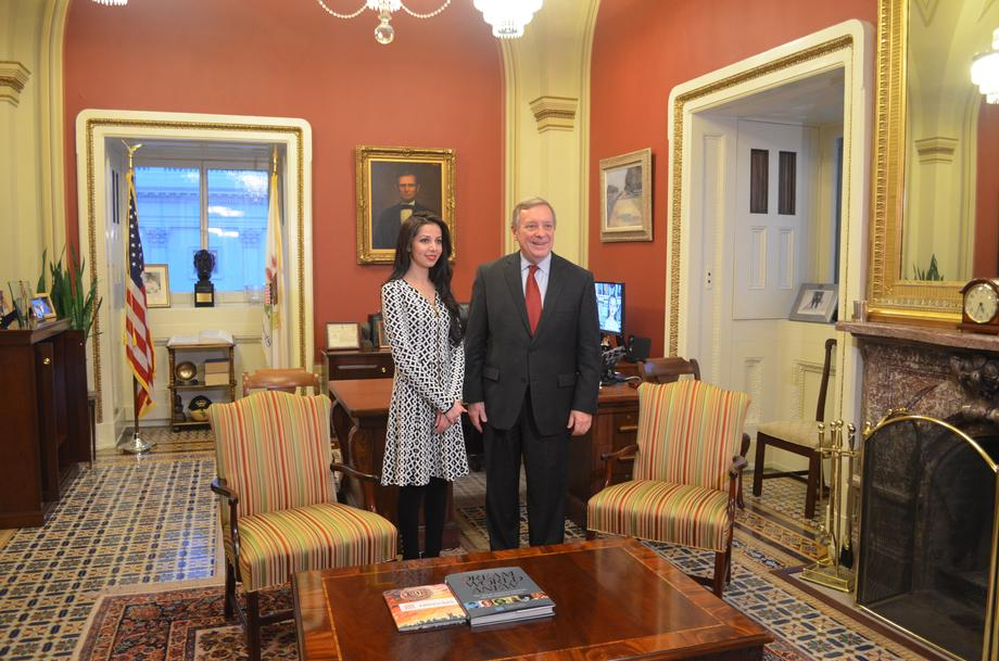 Senator Durbin hosts Aaima Sayed as Joint Session Address guest