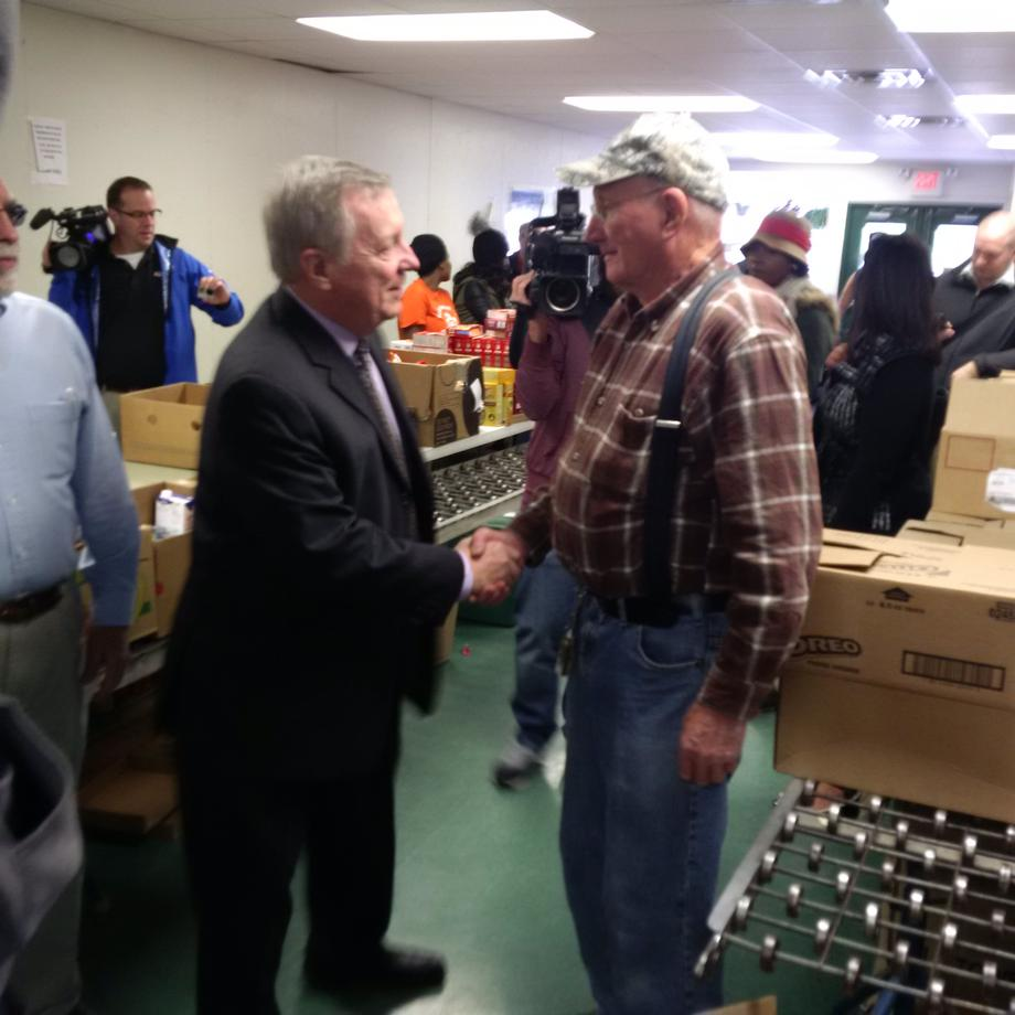 November 24, 2015 – I met volunteers and staff at the Northeast Community Fund in Decatur who prepared Thanksgiving boxes for local families.