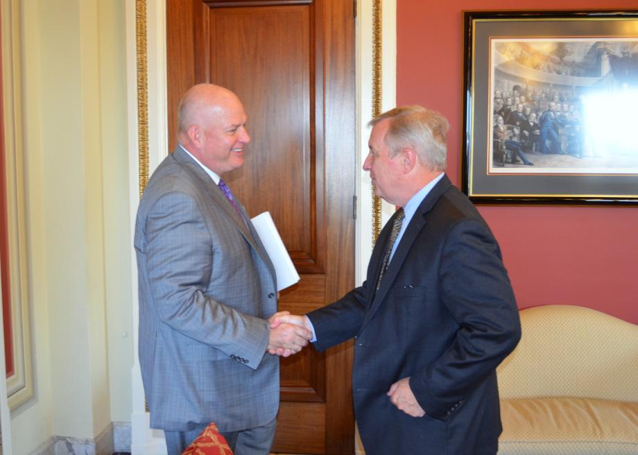 U.S. Senator Dick Durbin (D-IL) met with BNSF Railway President & CEO Carl Ice to discuss rail issues.