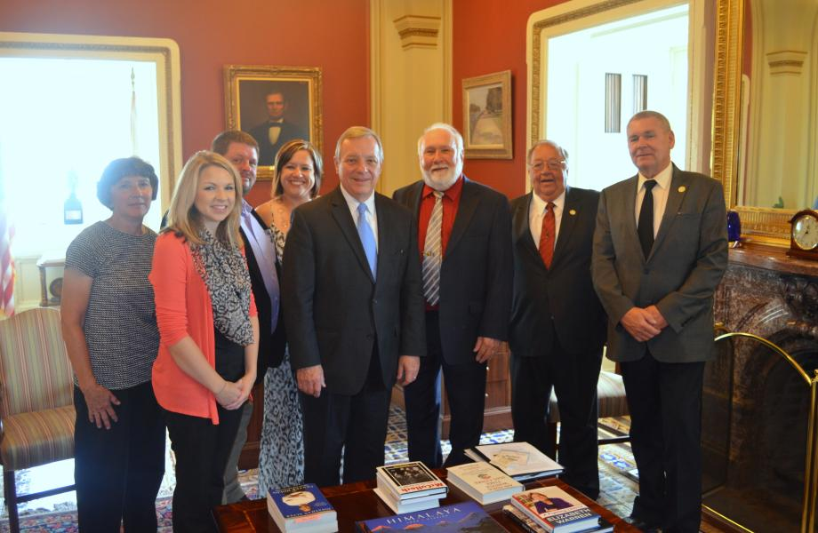U.S. Senator Dick Durbin (D-IL) met with the National Farmers Union to discuss Illinois agriculture and the EPA's Renewable Fuel Standard draft rule.