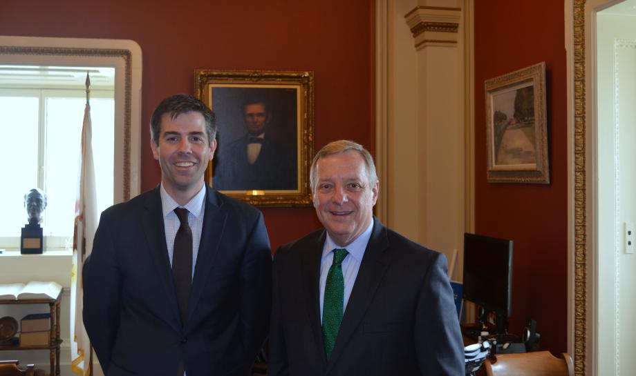U.S. Senator Dick Durbin (D-IL) met with Illinois Department of Employment Security Director Jay Rowell today to discuss job growth and the Illinois economy.