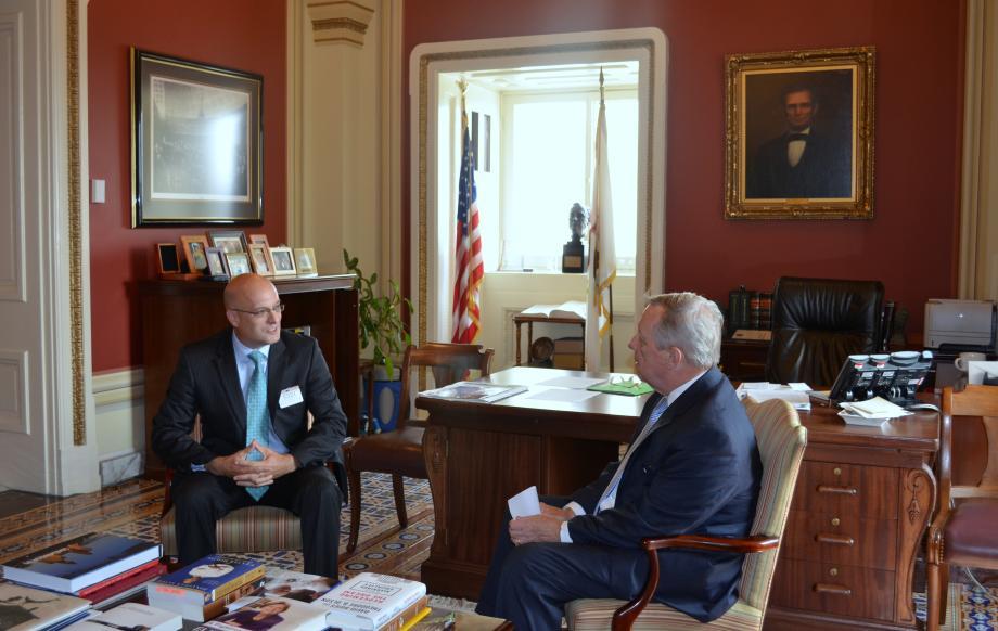 U.S. Senator Dick Durbin (D-IL) sat down with the Chairman of the Surface Transportation Board Dan Elliot to discuss transportation issues.