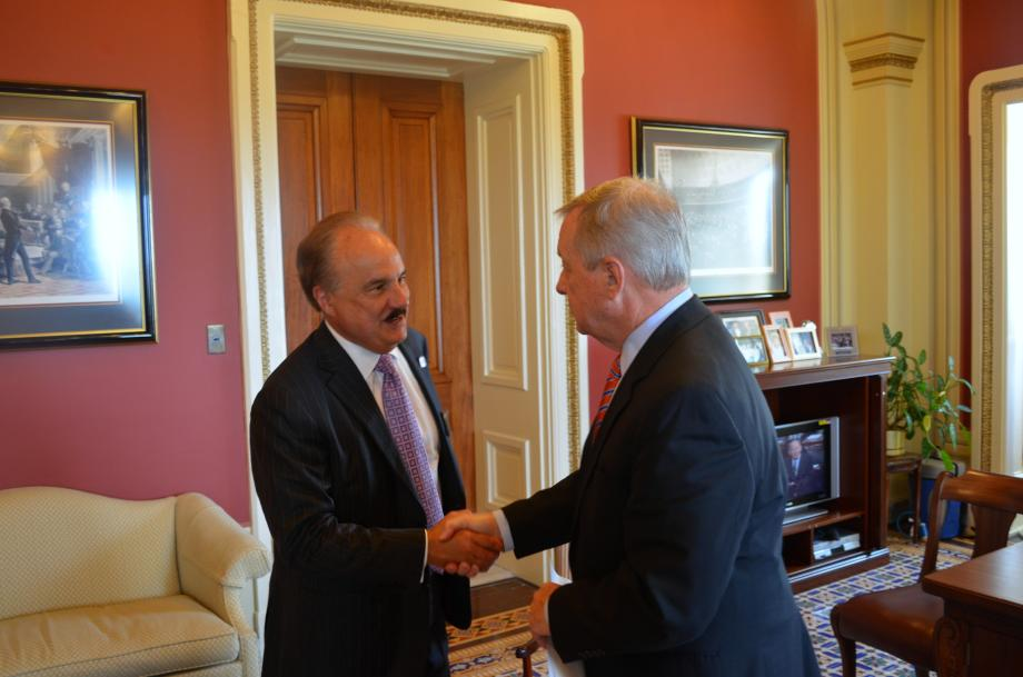 U.S. Senator Dick Durbin (D-IL) met with CVS CEO Larry Merlo to discuss tax issues and tobacco.