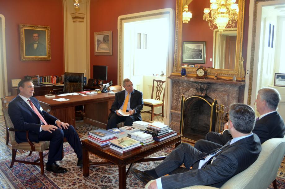 U.S. Senator Dick Durbin (D-IL) met with Air Liquide CEO Mike Graff to discuss FutureGen 2.0.