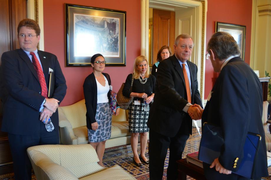 U.S. Senator Dick Durbin (D-IL) met with tobacco control organizations to discuss public health issues.