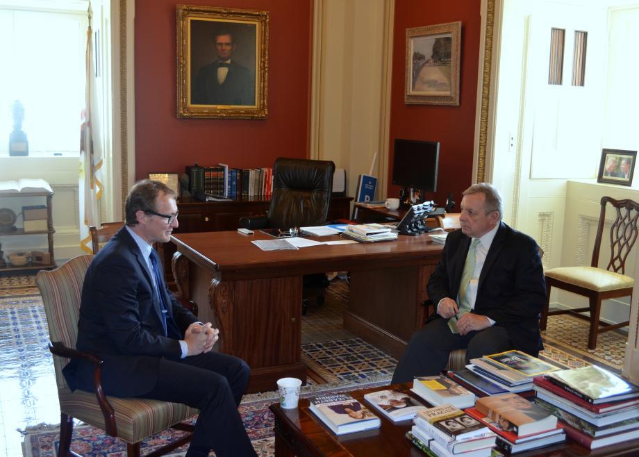 U.S. Senator Dick Durbin (D-IL) met with Ambassador Andris Razans of Latvia to discuss U.S. - Lativan relations.