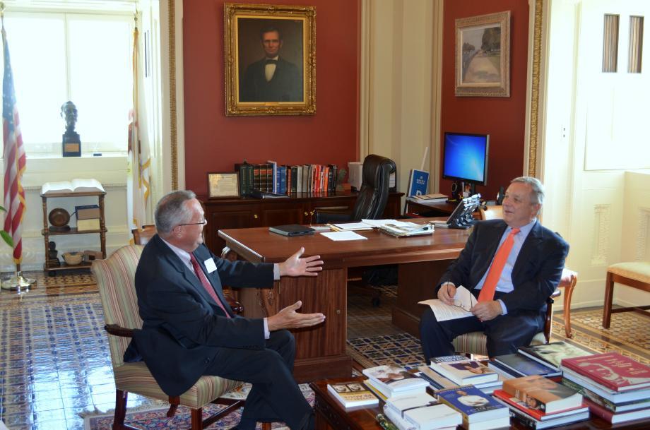U.S. Senator Dick Durbin (D-IL) met with the Illinois Primary Health Care Association CEO Bruce Johnson today to discuss Illinois health centers.