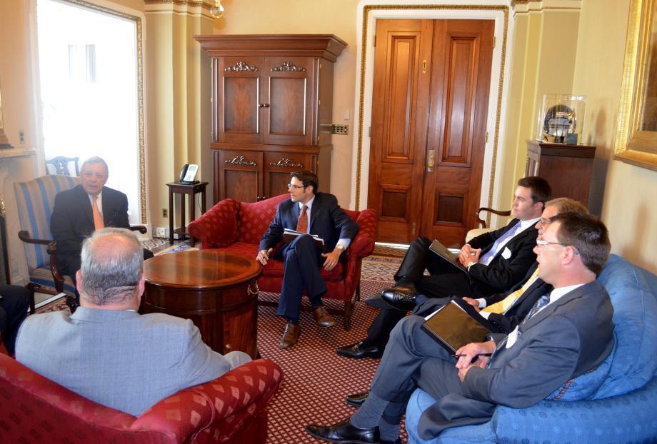 U.S. Senator Dick Durbin met with the McClean County Chamber of Commerce to discuss 2014 Local Economic Priorities.