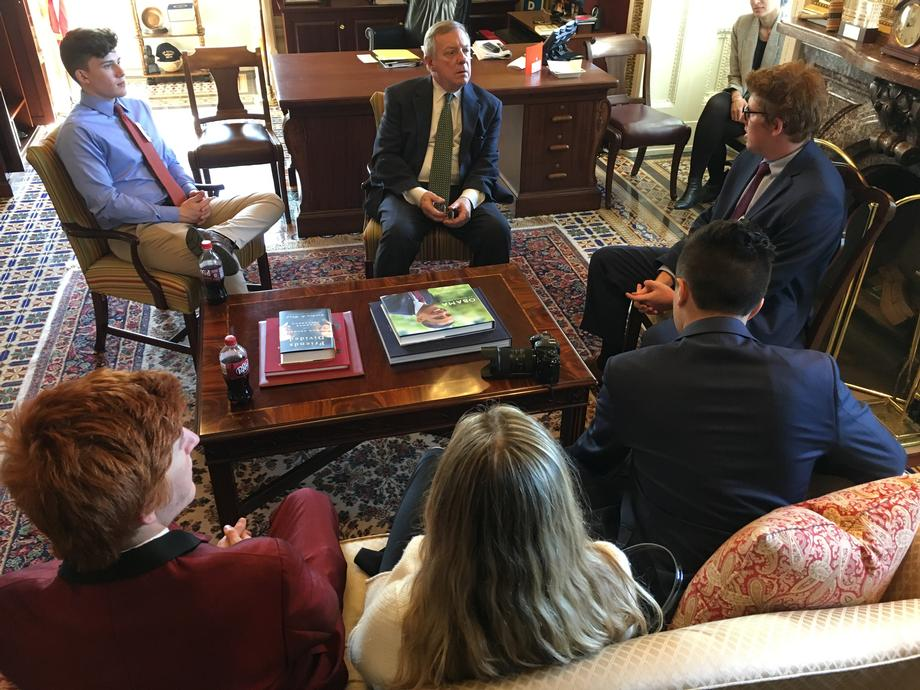 Durbin Meets with Stoneman Douglas High School Students