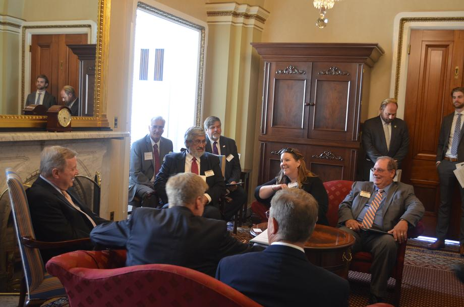 Durbin Meets With Illinois Soybean Growers