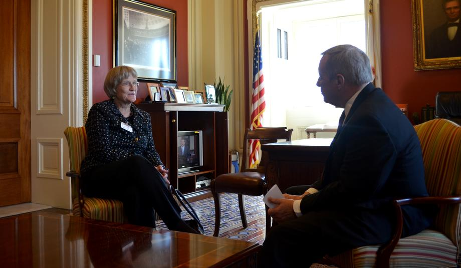 October 20, 2015 - I met with Harvard President Drew Faust to discuss the importance of funding our nation's top biomedical and science research agencies.