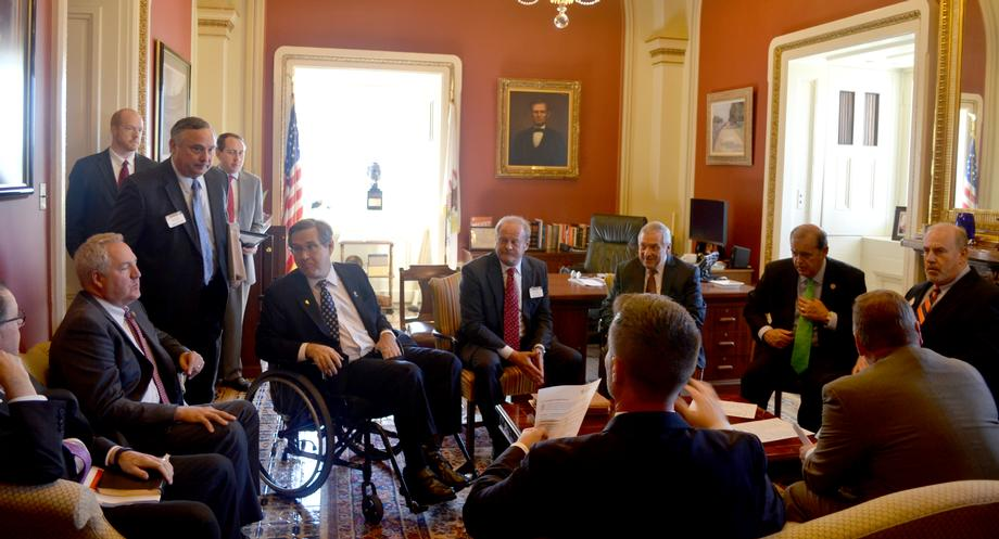 October 21, 2015 - I hosted the Southern Illinois Delegation for a discussion on regional economic priorities.