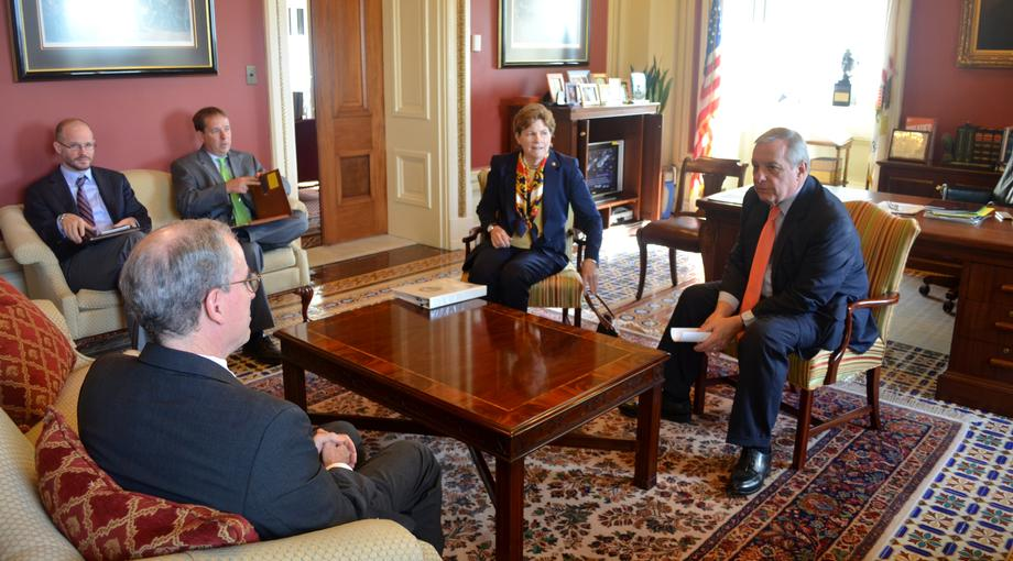 October 22, 2015 - Senator Shaheen and I discussed the Syrian Refugee Crisis with former Ambassador Ford.
