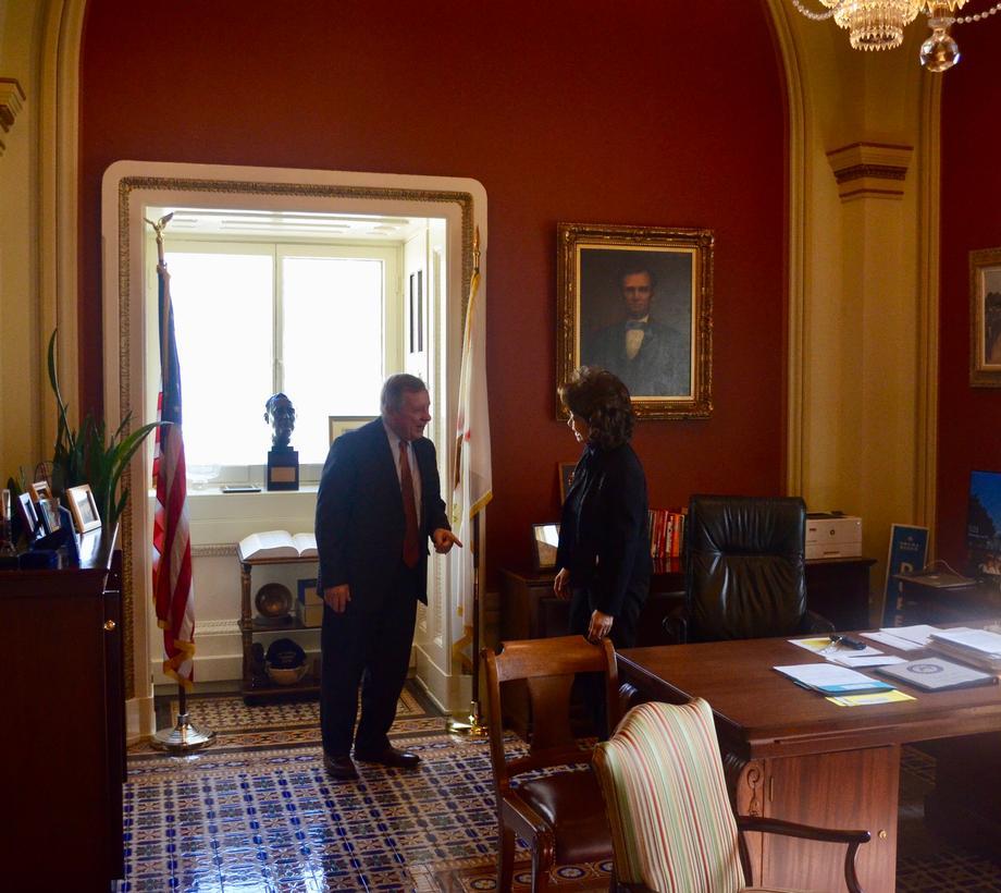 Durbin Meets With DOT Secretary Chao