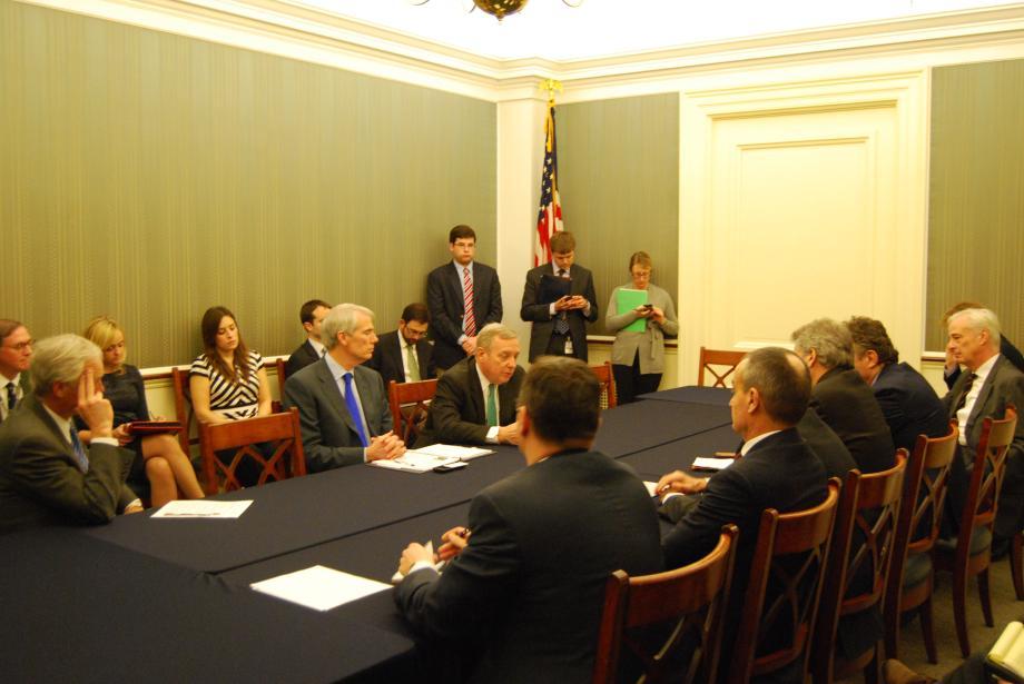 Durbin Meets With European Ambassadors