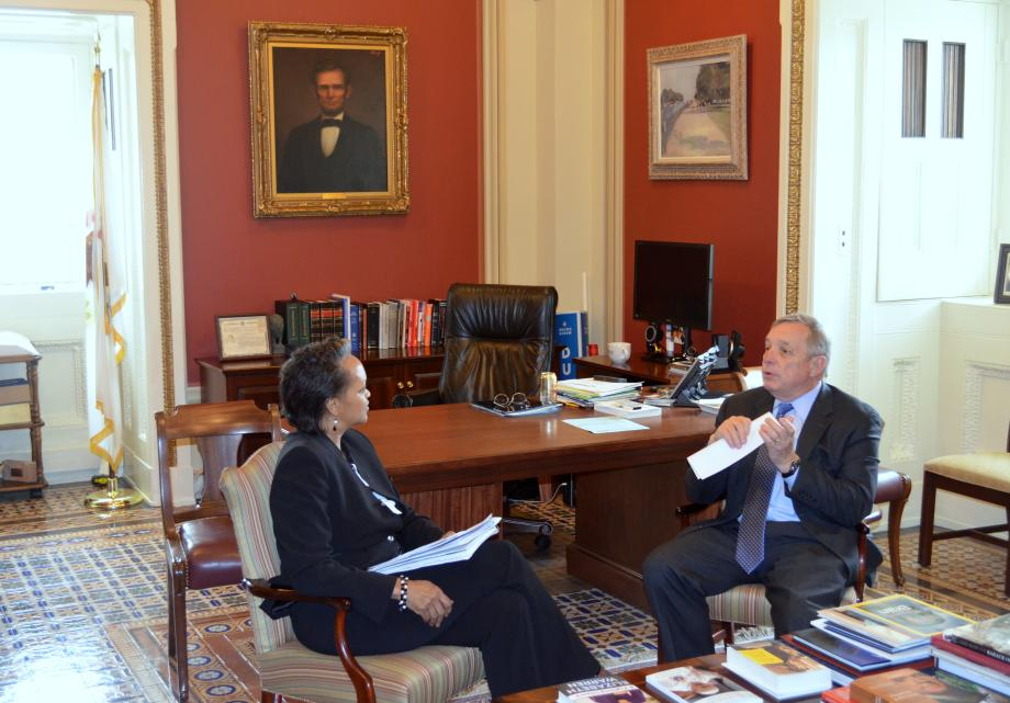 U.S. Senator Dick Durbin (D-IL) met with Assistant US Trade Representative for Africa Florence Liser to discuss trade efforts in Africa