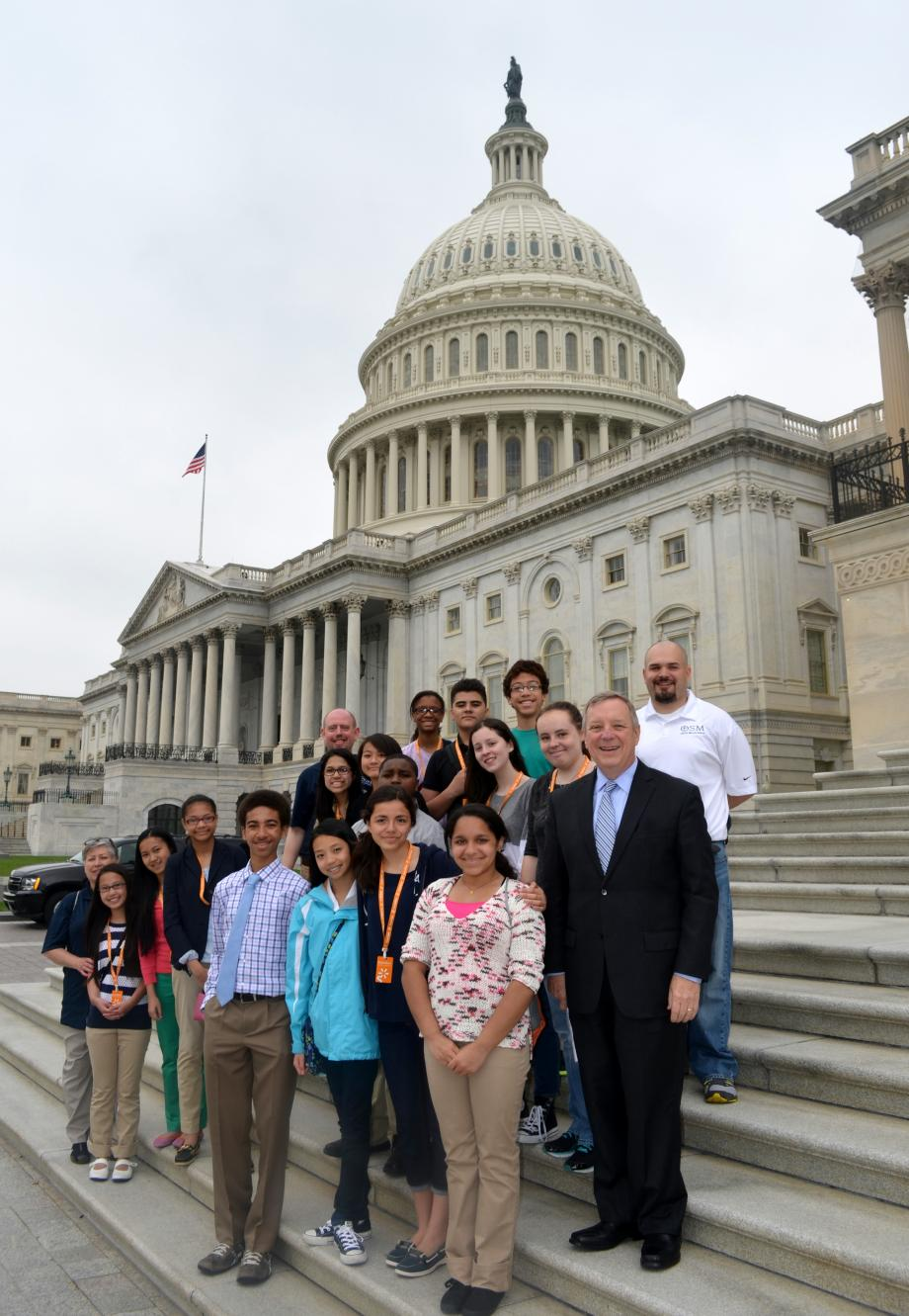 U.S. Senator Dick Durbin (D-IL) met with the Students at Old St. Mary's School in Chicago, Illinois who were in DC today on a school trip.