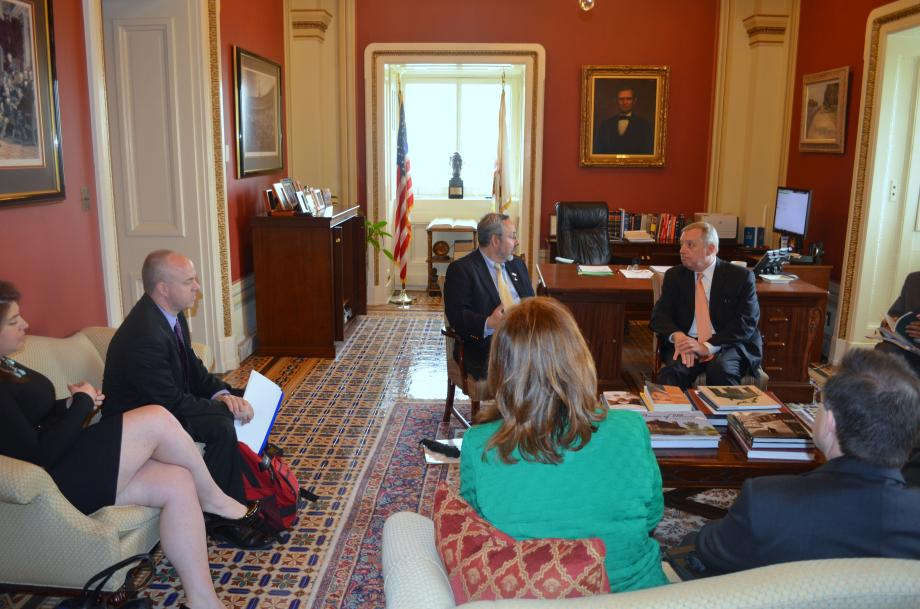 U.S. Senator Dick Durbin (D-IL) met with the Respiratory Health Association to discuss efforts to promote healthy lung initiatives and Durbin's American Cures Act, which would increase funding for biomedical research.