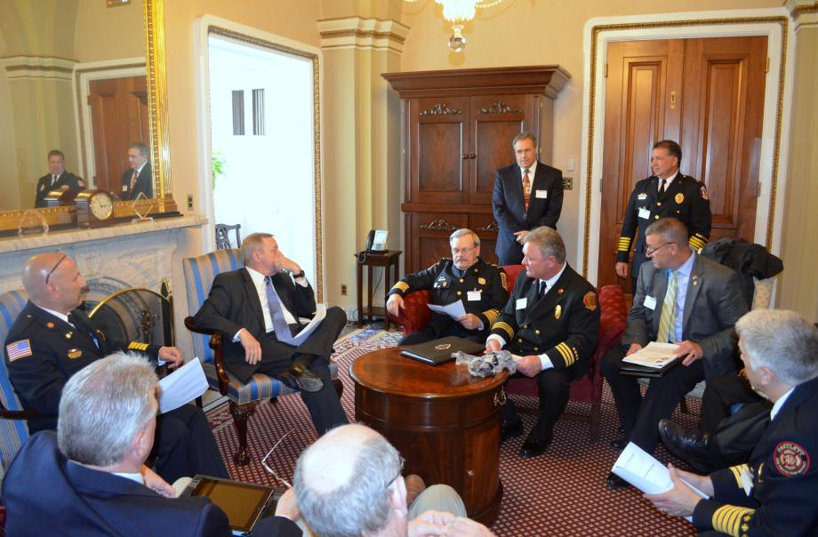 U.S. Senator Dick Durbin (D-IL) met with the Illinois Fire Chiefs Association to discuss current issues in fire safety and training in Illinois.