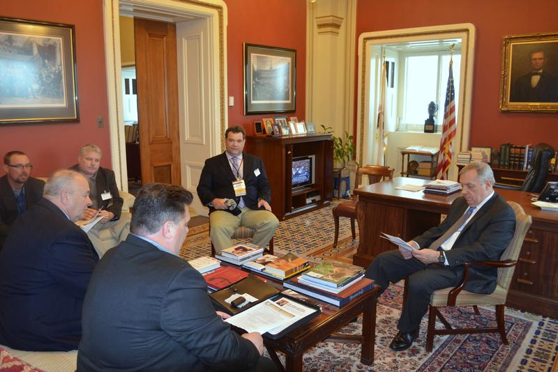 U.S. Senator Dick Durbin (D-IL) met with the Illinois Boilermakers to discuss the important work they do for the state, along with legislative issues that promote good paying jobs and job security in Illinois.