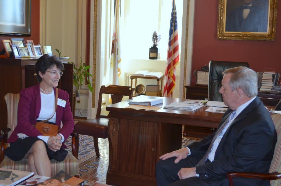 U.S. Senator Dick Durbin (D-IL) met with Ambassador of Costa Rica Muni Figueres to discuss the situation in Ukraine.