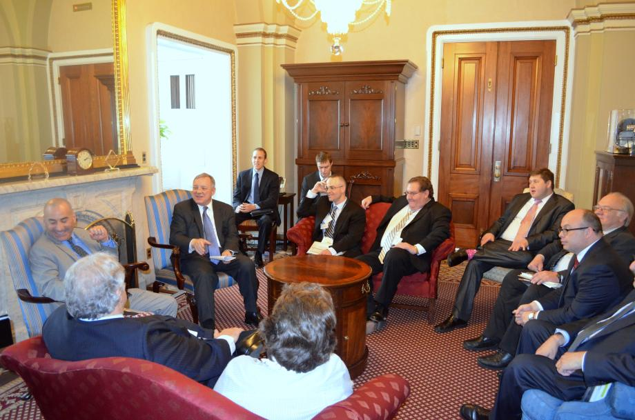 U.S. Senator Dick Durbin (D-IL) met with the Illinois Restaurant Association to discuss small business issues in Illinois.