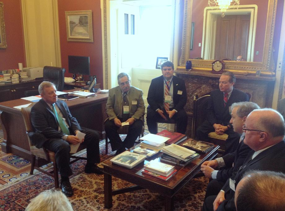 U.S. Senator Dick Durbin (D-IL) met with represenatives from the Illinois Municipal Electric Agency and the Illinois Municipal Utilities Association to discuss energy issues.