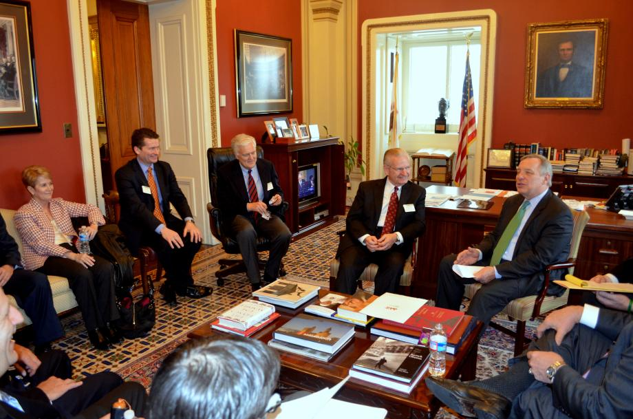 Members of the Springfield/Sangamon County Community Partnership were in DC to meet with U.S. Senator Dick Durbin (D-IL) to discuss regional priorites for 2014.