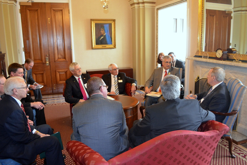 U.S. Senator Dick Durbin (D-IL) met with the Illinois Soybean Association to discuss the Farm Bill and Water Resources Development Act.