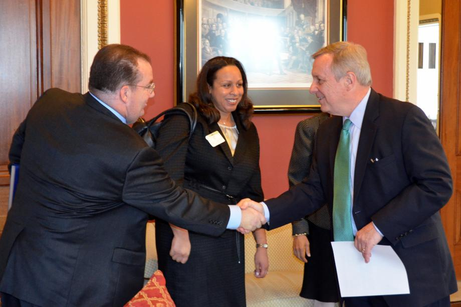 U.S. Senator Dick Durbin (D-IL) met with United States District Judge for the Central District of Illinois Nominee Colin Bruce, United States District Judge for the Northern District of Illinois Nominee Sara Ellis, and United States District Judge for the Northern District of Illinois Nominee Andrea Wood.